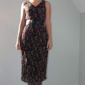 Tall Beaded Black Dress